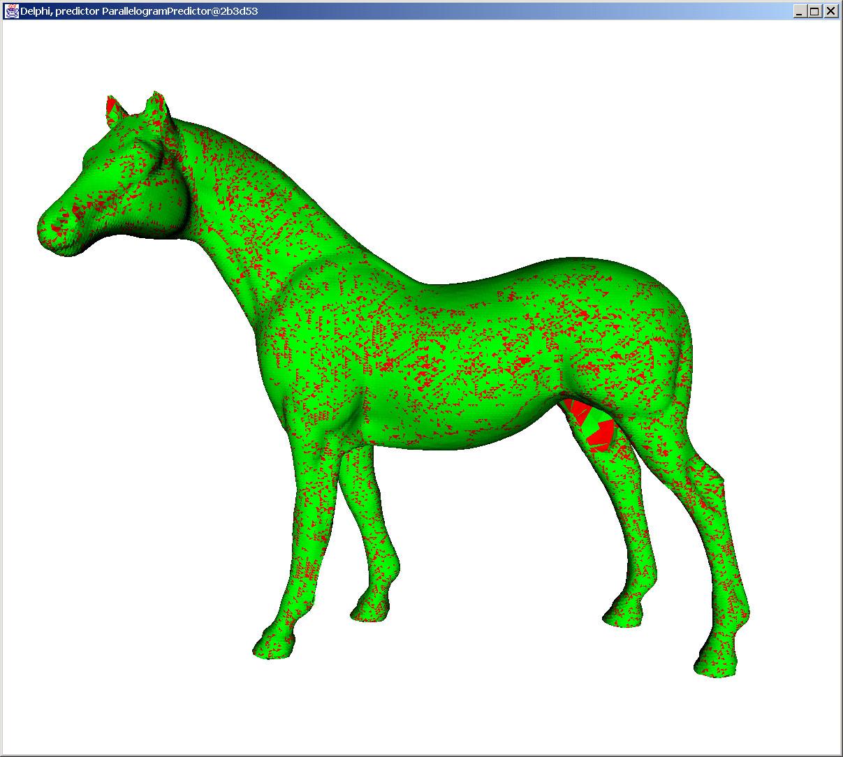 Modell Pferd mit Delphi Kompression kodiert.