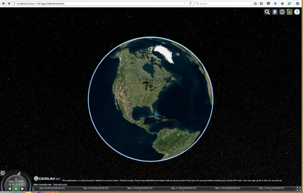 Cesium Hello World