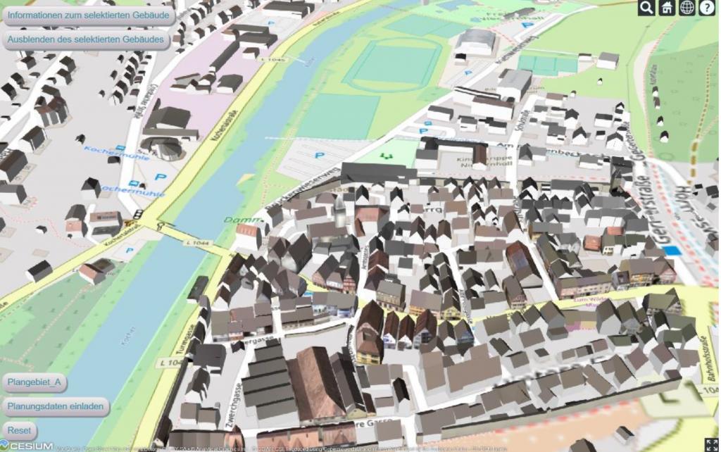 Web-Anwendung Niedernhall, Daten (c) Landesamt für Geoinformation und Landwentwicklung Baden-Württemberg (LGL BW)